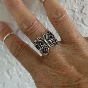 Jewelry - Sterling Silver Filigree Butterfly 🦋 Ring